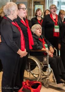 GALA Denver Sacramento Women's Chorus Embassy Suites Lobby