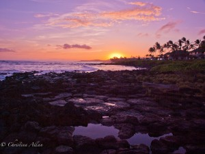 Sunset near the Sheraton in Poipu