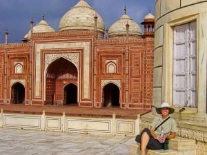Chris at Taj Mahal