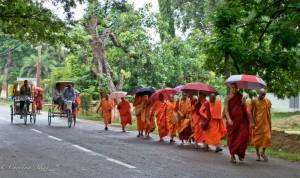 Buddhist Monks in Bodhgaya