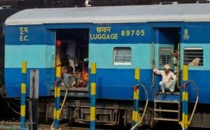 Luggage Car at Delhi Train Station