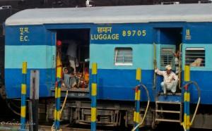 Luggage Car at Delhi Train Station