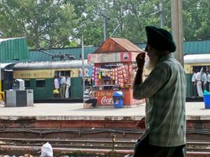 Sikh Man at Delhi Train Station