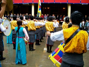 Student Band Playing for Dalai Lama's Birthday in Dharamsala