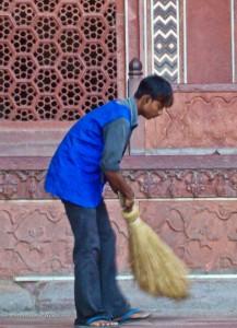 Taj Mahal Worker