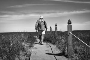 Ocean Park Maine man boardwalk walking