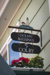 Ocean blessings sign ocean park