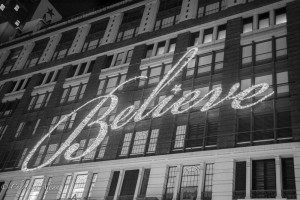 Macy's Believe Sign