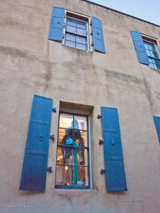 Windows at Evangeline's in Old Sacramento