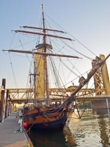 Tall Ship at the Old Sacramento Waterfront