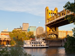 Sacramento Waterfront with Tower Bridge