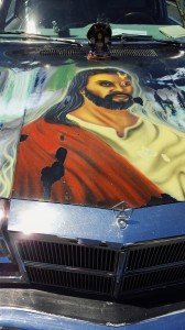 Jesus on Car in South Sac