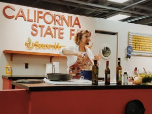 Olive oil demonstration at the state fair