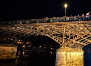 """Love locks"" on Notre Dame Bridge"