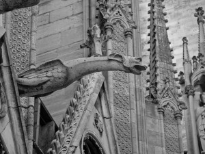 Gargoyle at Notre Dame Cathedral in Paris