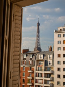 Window View of the Eiffel Tower