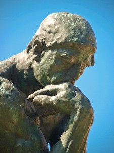 Close-up of Rodin's Thinker