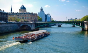 Seine with Tourist Boat