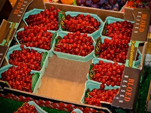 Cherries at Paris Market