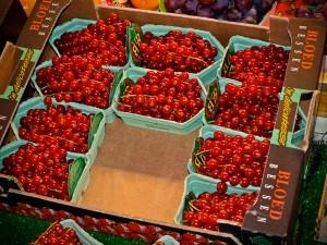 Cherries at Paris Market