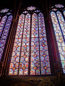 Stained Glass Window at Sainte Chapelle