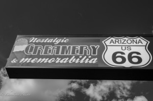 Nostalgic Creamery Sign Flagstaff Route 66