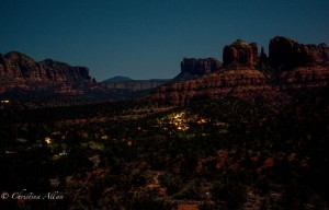 Night Vista of Cathedral Rock