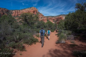 Hikers at Red Rock Secret Mountain Wilderness