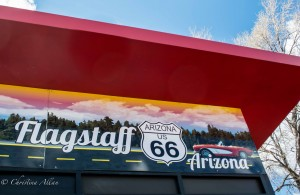 Route 66 Flagstaff Car Sign