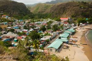 View of Anse La Raye