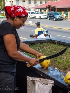 Cutting Coconut