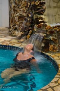 De in Waterfall at Villa Beach Resort