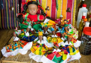 Dolls at the Castries Market