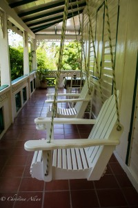 Porch Chairs at La Dauphine