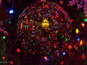 State Capitol Reflection in Christmas Ornament