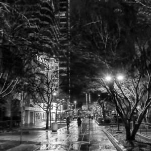K Street in the Rain - b/w