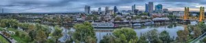 Downtown and Old Sacramento Panorama