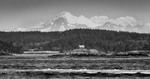 Mount Baker and house