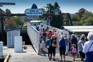 Passengers arriving at Friday Harbor