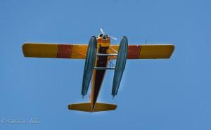Yellow seaplane