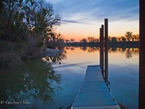 Sunset at Garcia Bend Dock