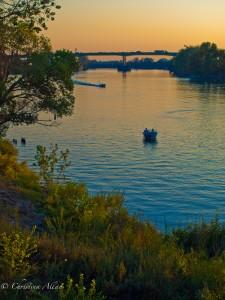 Dusk with Boats on the Sacramento River