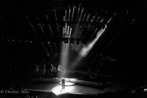 Black and white Taking bows Neil Diamond Concert 50th Anniversary Tour Sacramento Allan
