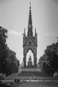 B&W The Albert Memorial Hyde Park London Allan