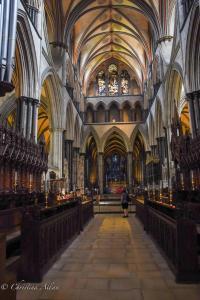 Chancel Choir stalls altar salisbury cathdral allan