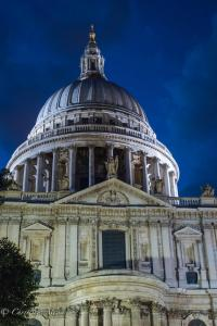 St. Paul's dome Cathedral Night Allan