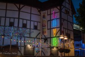 Globe Theatre nightSummer of Love Sign london allan