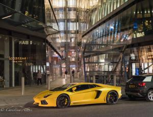 Lamborghini Bar signs night london allan