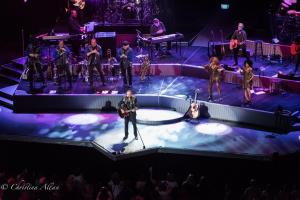 Playing Red Guitar Neil Diamond Concert 50th Anniversary Tour Sacramento Allan