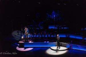 Larry Klimas sax player you don't bring me flowers Neil Diamond Concert 50th Anniversary Tour Sacramento Allan